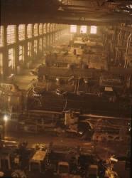 Ateliers de locomotives des chemins de fers de Chicago et du Nord-Ouest (Jack Delano) - Muzeo.com