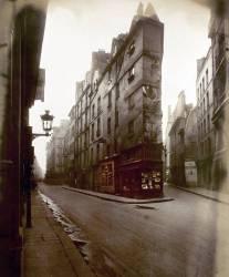 Coin des rues de Seine et de l'Echaude, Paris (Eugène Atget) - Muzeo.com