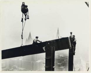 Construction de l'Empire State Building, New York City (Lewis Wickes Hine) - Muzeo.com