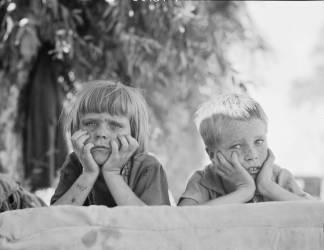 Enfants dans l'Oklahoma (Dorothea Lange) - Muzeo.com