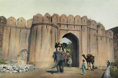 Habitant utilisant les éléphants privés du Maharajah (William Wisner Chapin) - Muzeo.com