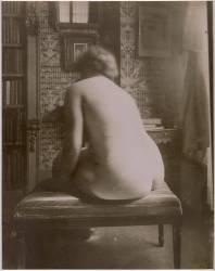 Nu de dos dans un intérieur (Atget Eugène) - Muzeo.com