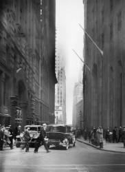 VUE SUR WALL STREET A NEW-YORK VERS 1934 (Keystone) - Muzeo.com