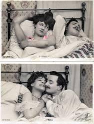2 cartes postales fantaisie l'épouse et l'amie vers 1900 (anonyme) - Muzeo.com