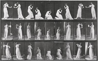 Album sur la décomposition du mouvement:Animal Locomotion: femme versant de l'eau (Muybridge Eadweard) - Muzeo.com