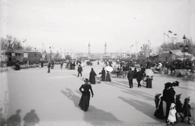 Esplanade des Quinconces. Exposition de la Société Philomathique de 1895 ? (Umberto anonyme) - Muzeo.com