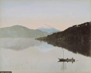 Fuji-Yama depuis Numadzu (Kusakabe Kimbei) - Muzeo.com