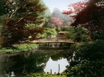 Jardin ornemental japonais en floraison (Kusakabe Kimbei) - Muzeo.com