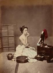 La Toilette Japonaise (Kusakabe Kimbei) - Muzeo.com