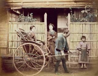 Femme dans un pousse-pousse, vers les années 1890 (Umberto anonyme) - Muzeo.com