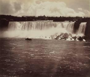 Les chutes du Niagara, au fond vue de la ville (George Barker) - Muzeo.com