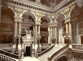 Les marches de l'Opéra de Paris (Anonyme) - Muzeo.com