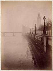 Londres, le parlement et Westminster bridge (Gabriel Loppé) - Muzeo.com