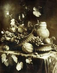 Nature Morte avec Fruits et Poteries (Heinrich Kühn) - Muzeo.com