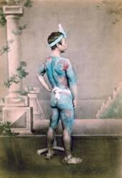 Portrait d'un homme japonais tatoue (Felice Beato) - Muzeo.com