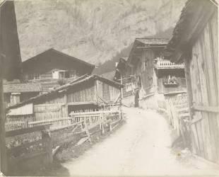 Une rue de village (anonyme) - Muzeo.com