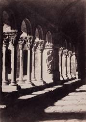 Arles (Bouches-du-Rhône) - Cloître Saint-Trophime, galerie est (Charles Nègre) - Muzeo.com