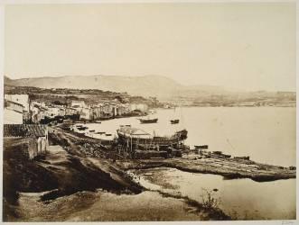 Bandol, la baie et le village (Baldus Edouard) - Muzeo.com