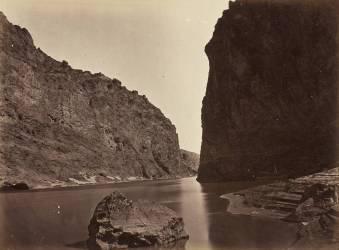 Black Cañon, Colorado River, près du Camp 7 (Timothy O'Sullivan) - Muzeo.com