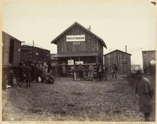 Bureau de l'officier général, Aquia Creek, Février 1863 (Timothy O'Sullivan) - Muzeo.com