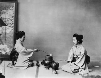 Cérémonie du thé au Japon (Chya ho yu) (Felice Beato) - Muzeo.com