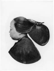 Coiffure d'une femme Ningpo (John Thomson) - Muzeo.com