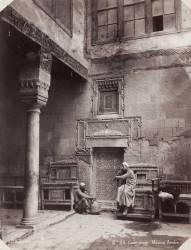 Cour d'une maison arabe en Egypte en 1870 (Frères Abdullah) - Muzeo.com