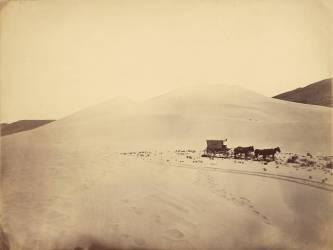 Dunes de sable près de Sink of Carson, Nevada (Timothy O'Sullivan) - Muzeo.com