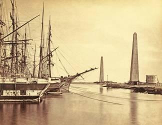 Embouchure du canal de Suez à Port Saïd (Francis Frith) - Muzeo.com