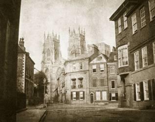Façade Ouest de la cathédrale d'York depuis Lendall Street (William Henry Fox Talbot) - Muzeo.com