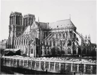 Flanc sud de la cathédrale Notre-Dame, Paris (Louis-Auguste Bisson) - Muzeo.com