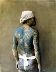 Japon, homme tatoué (Baron Von Stillfried) - Muzeo.com