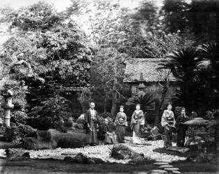 Jardin japonais à Hara (Felice Beato) - Muzeo.com