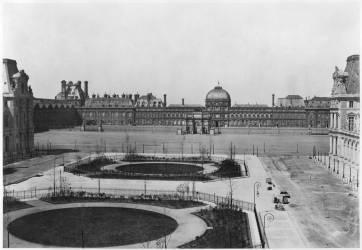 Le Louvre et le Palais des Tuileries vus depuis la Cour Napoléon (Edouard Baldus) - Muzeo.com