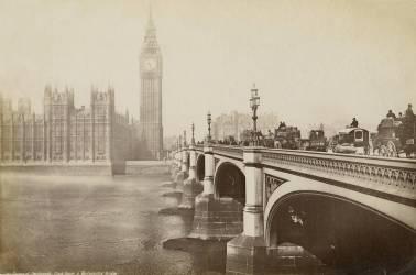 Le Pont de Westminster et les Chambres du Parlement, Londres (Francis Frith) - Muzeo.com