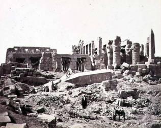 Le Temple de Karnak depuis le Sud Est (Francis Frith) - Muzeo.com