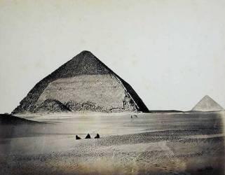 Les pyramides de Dahchour depuis le Sud Ouest (Francis Frith) - Muzeo.com
