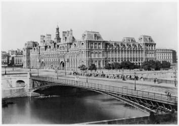 L'Hôtel de Ville et la Seine (Edouard Baldus) - Muzeo.com