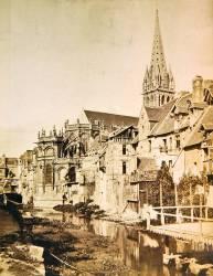 L'Odon, l'abside et la tour de Saint-Pierre de Caen (Edouard Baldus) - Muzeo.com