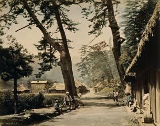 Route du Tokaido reliant Edo et Kyôto (Stillfried & Andersen) - Muzeo.com