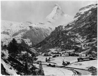 Vue de Zermatt et du Mont Cervin (Adolphe Braun) - Muzeo.com
