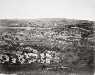 Vue panoramique de Jérusalem depuis le Mont des Oliviers (Francis Frith) - Muzeo.com