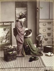 Coiffure, Japon, vers 1880 (Kusakabe Kimbei) - Muzeo.com