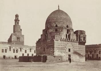 Le Caire, fontaine et mosquée de Touloum (Béchard Henri) - Muzeo.com