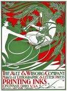 Affiche Art Nouveau représentant Pan (William Bradley) - Muzeo.com