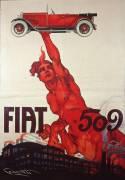 Affiche pour la Fiat 509 (Codognato Plinio) - Muzeo.com
