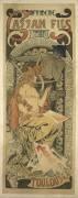 Affiche pour l'imprimerie Cassan fils à Toulouse (Alfons Mucha) - Muzeo.com