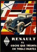 Affiche publicitaire pour les automobiles Renault (Anonyme) - Muzeo.com