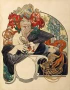 Bière de la Meuse (Alfons Mucha) - Muzeo.com