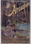 Chemin de fer d'Orléans, Arcachon (Hugo d'Alesi) - Muzeo.com